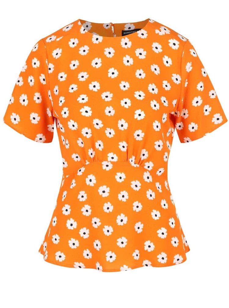Oranžová blúzka s kvetovaným vzorom Dorothy Perkins