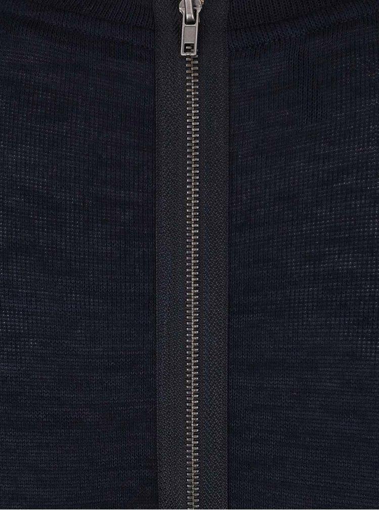 Bluză albastru închis asimetrică ONLY Sola