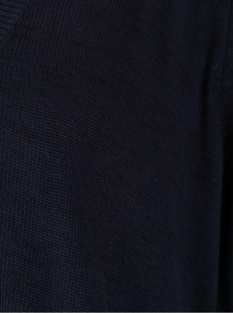 Tmavě modrý žíhaný asymetrický cardigan ONLY Auckland