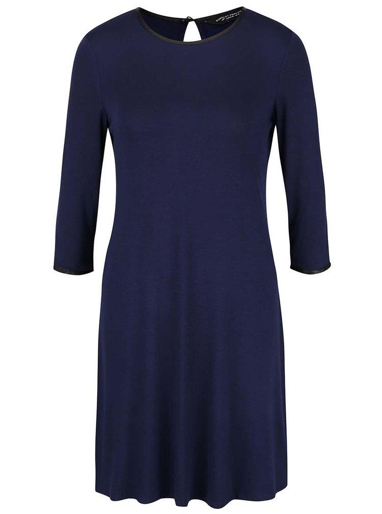 Tmavě modré šaty s 3/4 rukávy Dorothy Perkins