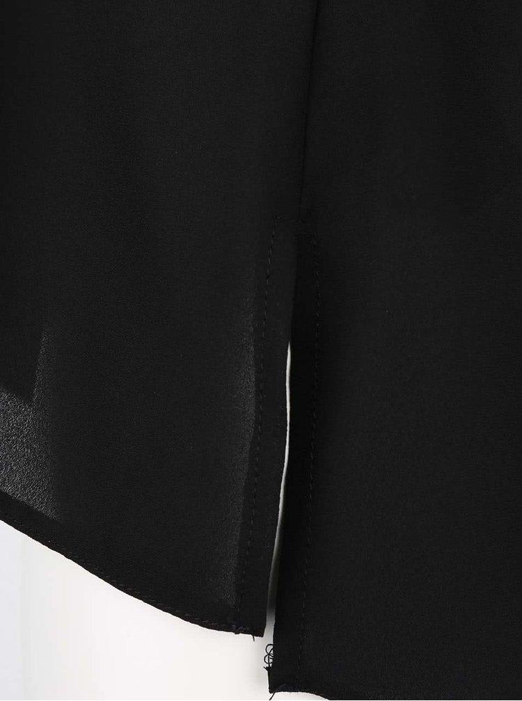 Čierna voľnejšia blúzka bez rukávov Dorothy Perkins