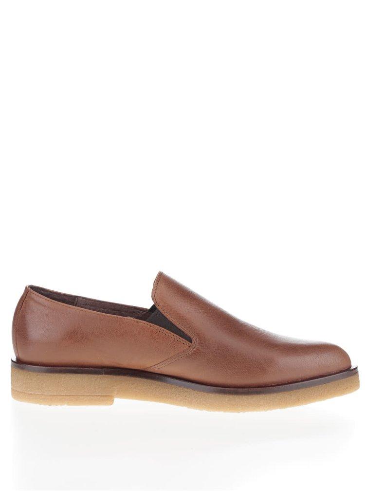Pantofi loafer maro OJJU Rick din piele