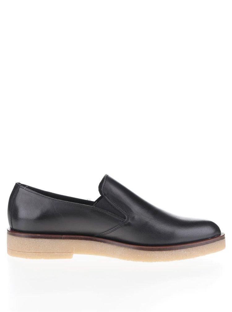 Čierne kožené loafers OJJU Ricky