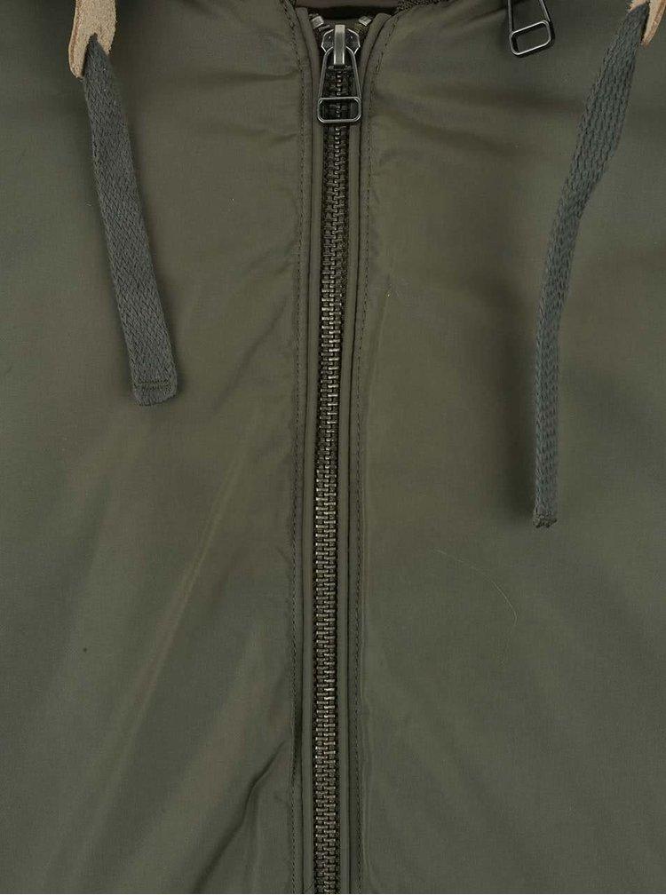 Jachetă cu glugă Jack & Jones Seven verde
