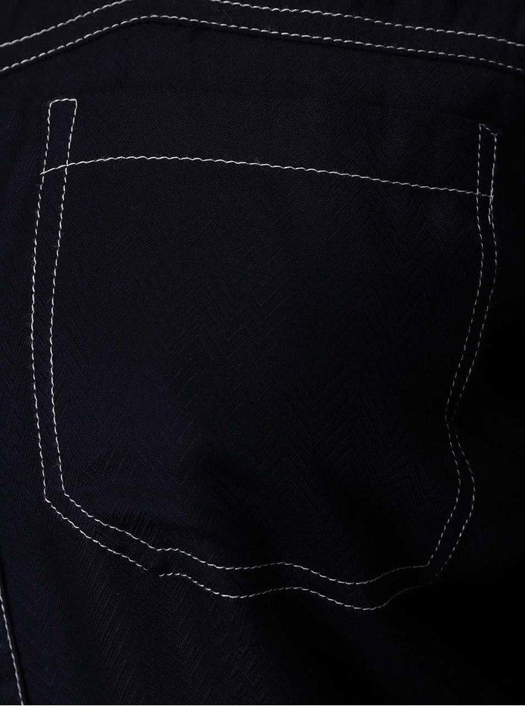 Tmavě modrá košile s bílým prošíváním Dorothy Perkins
