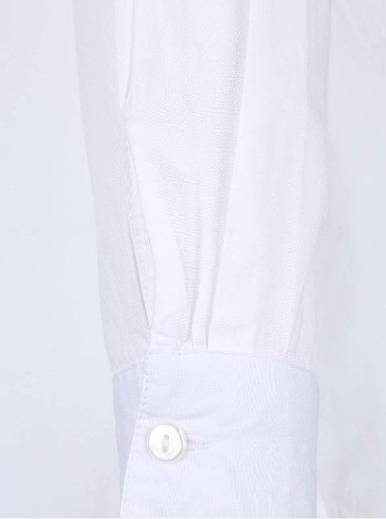 Biela košeľa s nazberkaným lemovaním Dorothy Perkins