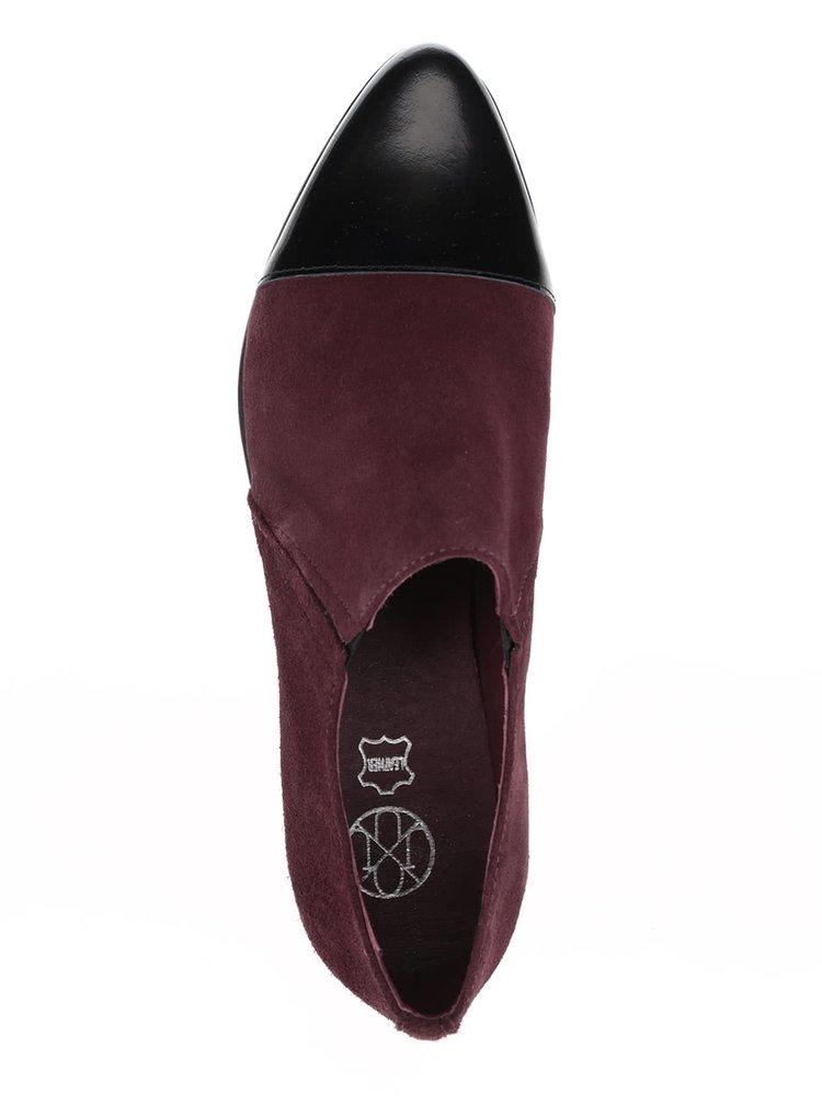 Vínové semišové loafers OJJU