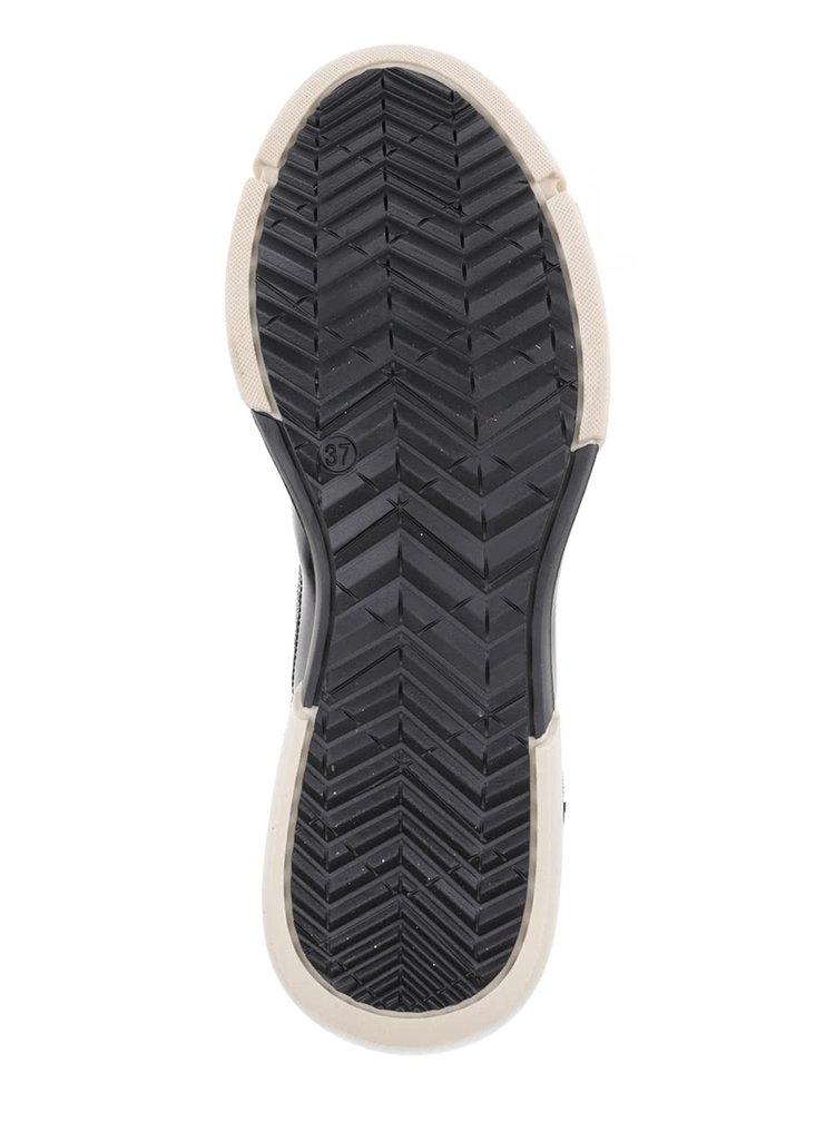 Černé semišové tenisky s třpytivými detaily OJJU