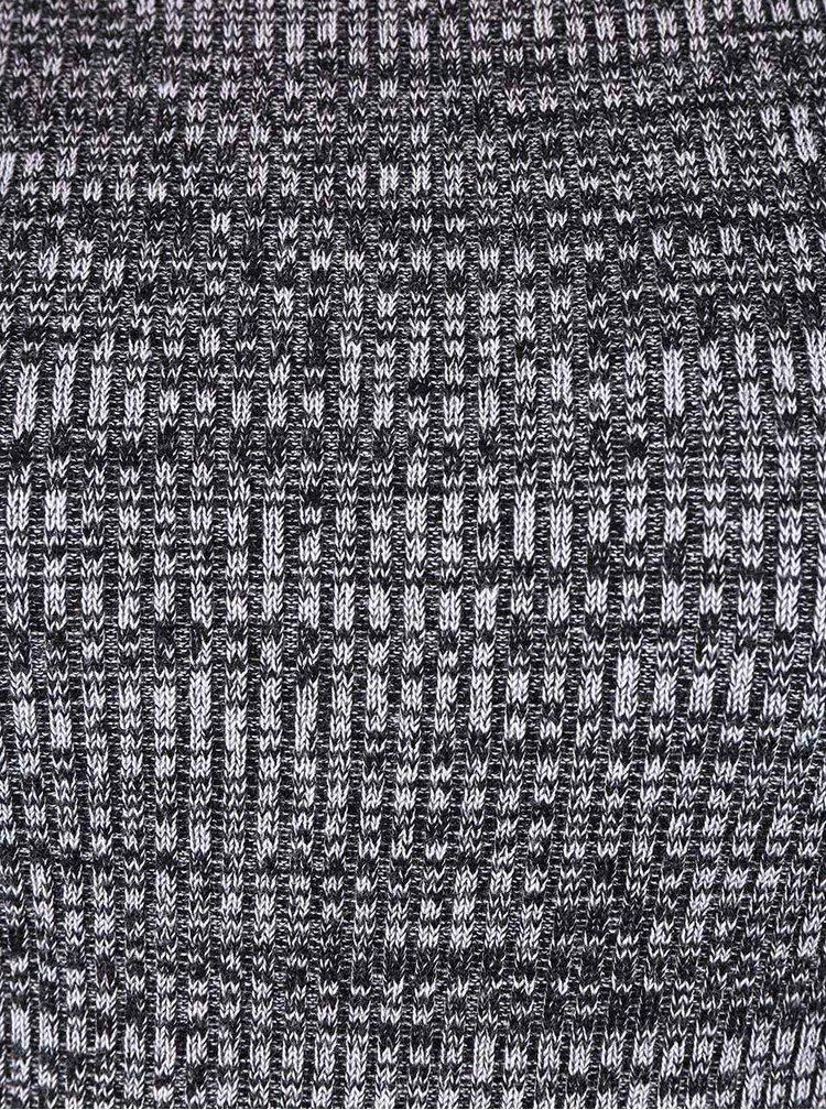 Šedé žíhané strečové šaty s krátkým rukávem Apricot