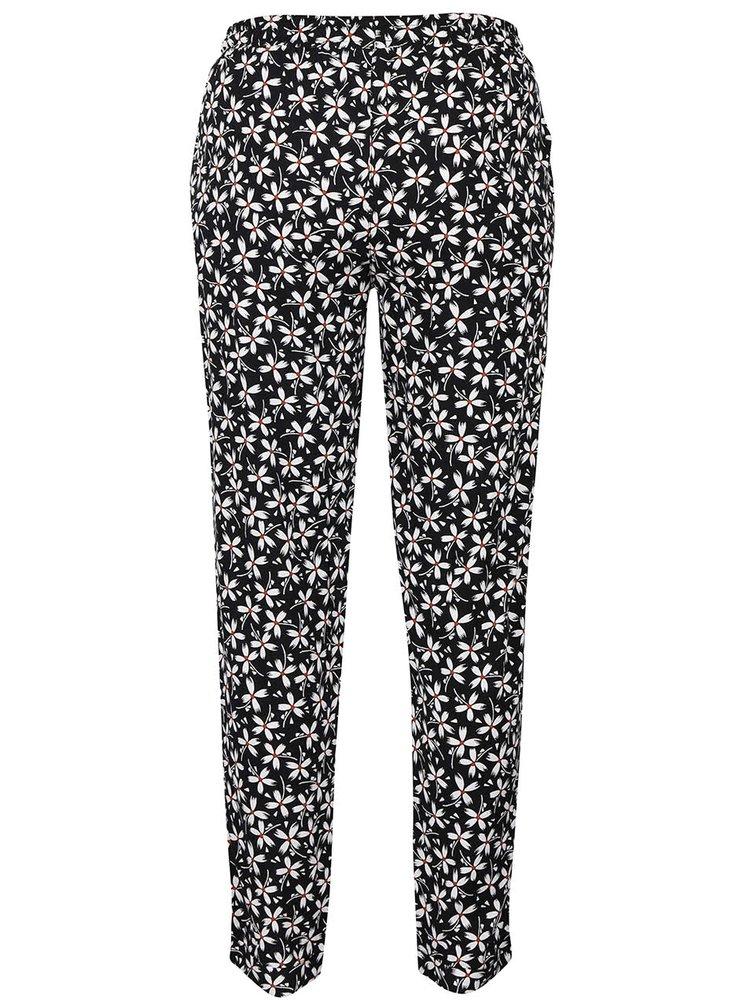 Bielo-čierne voľné nohavice s kvetovaným motívom Dorothy Perkins