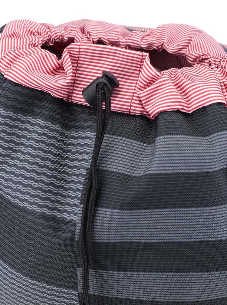 Sivo-čierny dámsky vzorovaný batoh Herschel Little America