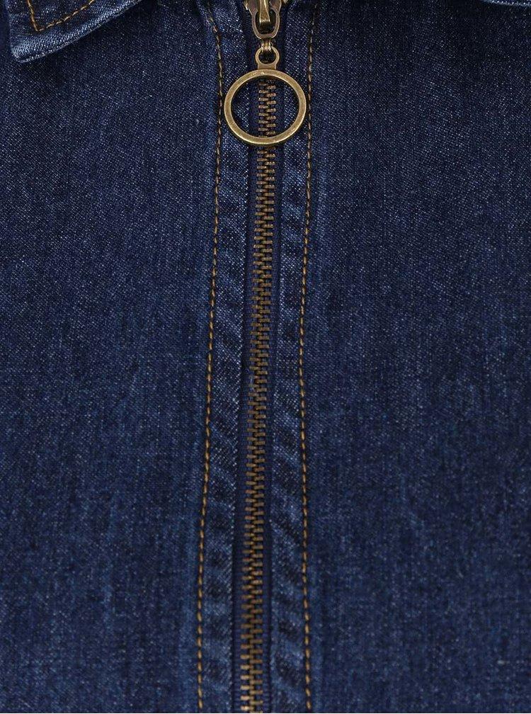 Tmavě modré džínové šaty s kapsami Apricot