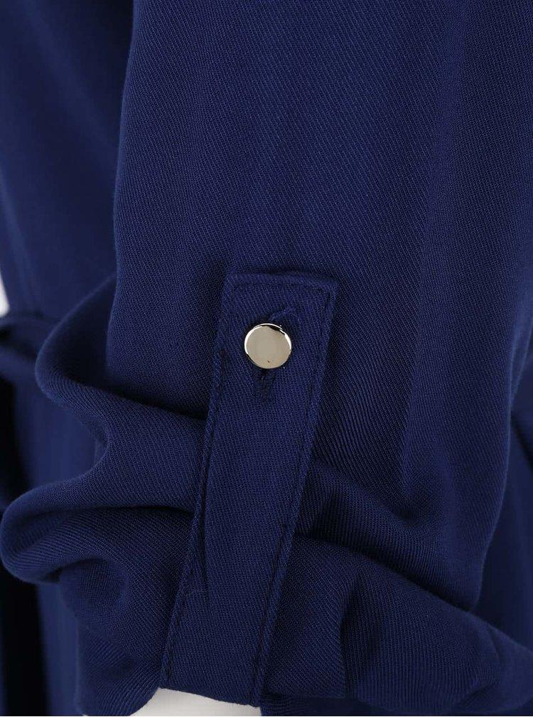 Tmavě modré šaty se zipem v dekoltu Dorothy Perkins