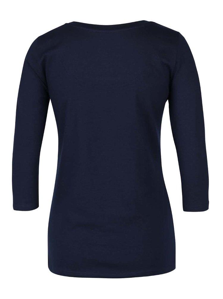 Tmavomodré tričko s 3/4 rukávmi Desigual Natalie