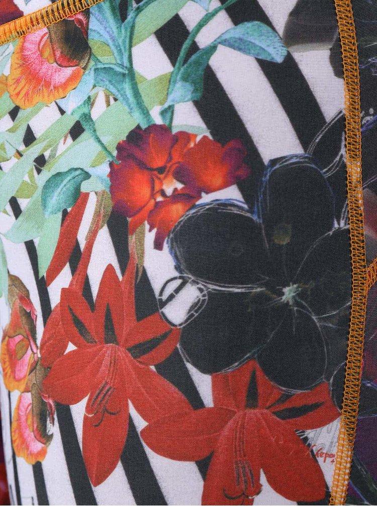 Colanți multicolorii Desigual Sport  cu model floral
