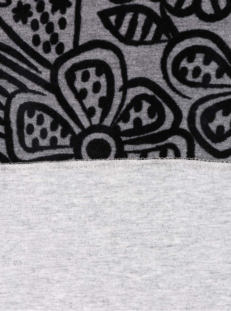 Čierno-sivé tričko Desigual Shannen