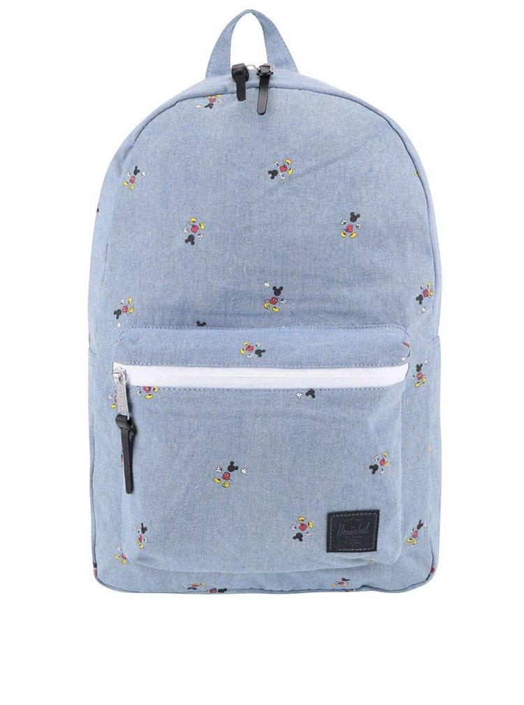 Modrý dámský batoh s potiskem Mickey Mouse Herschel Settlement 23 l
