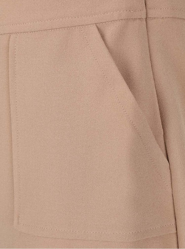 Béžové šaty s kapsami Dorothy Perkins