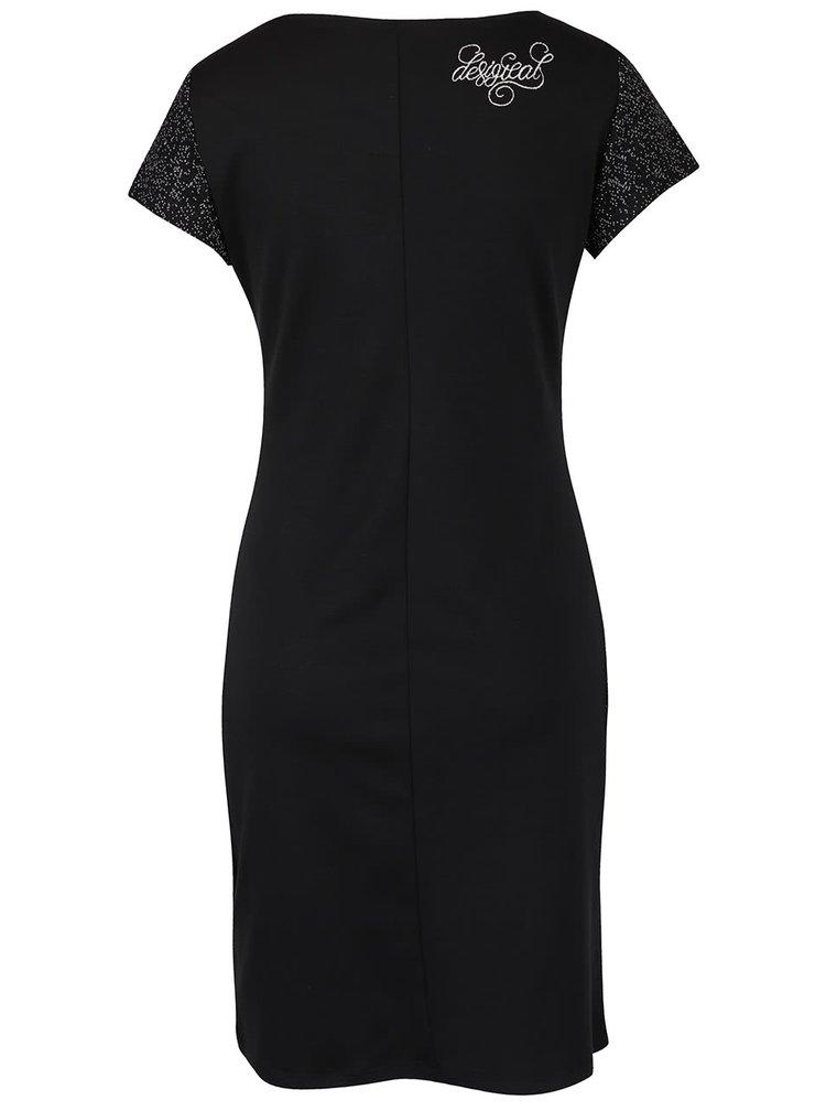 Bielo-čierne vzorované šaty Desigual Linda