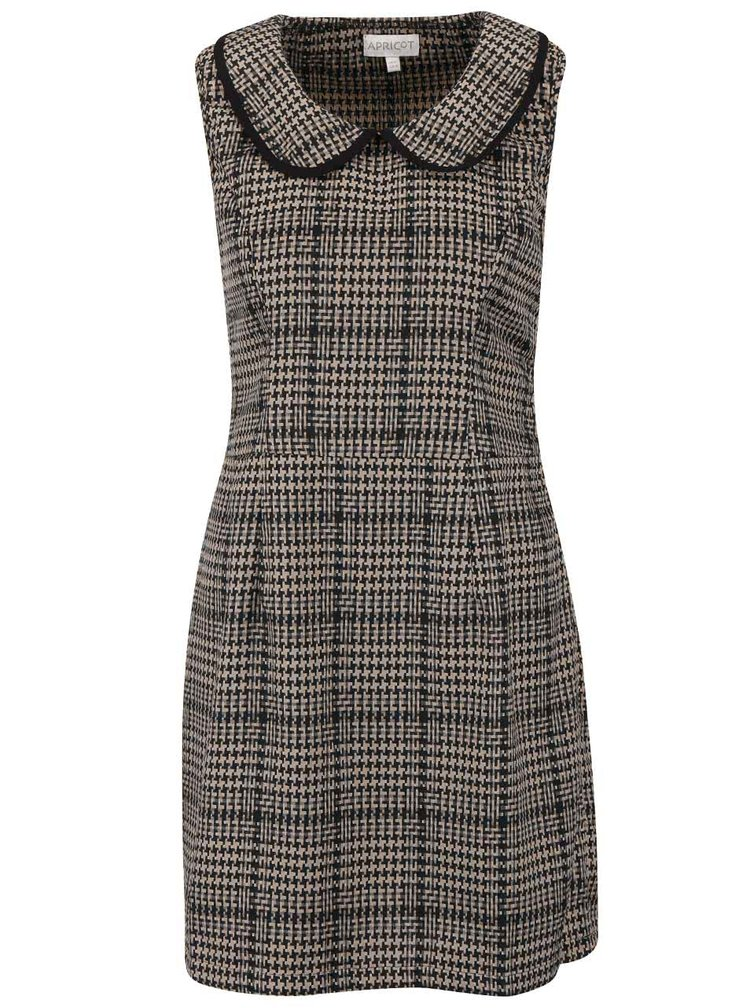 Rochie houndstooth Apricot