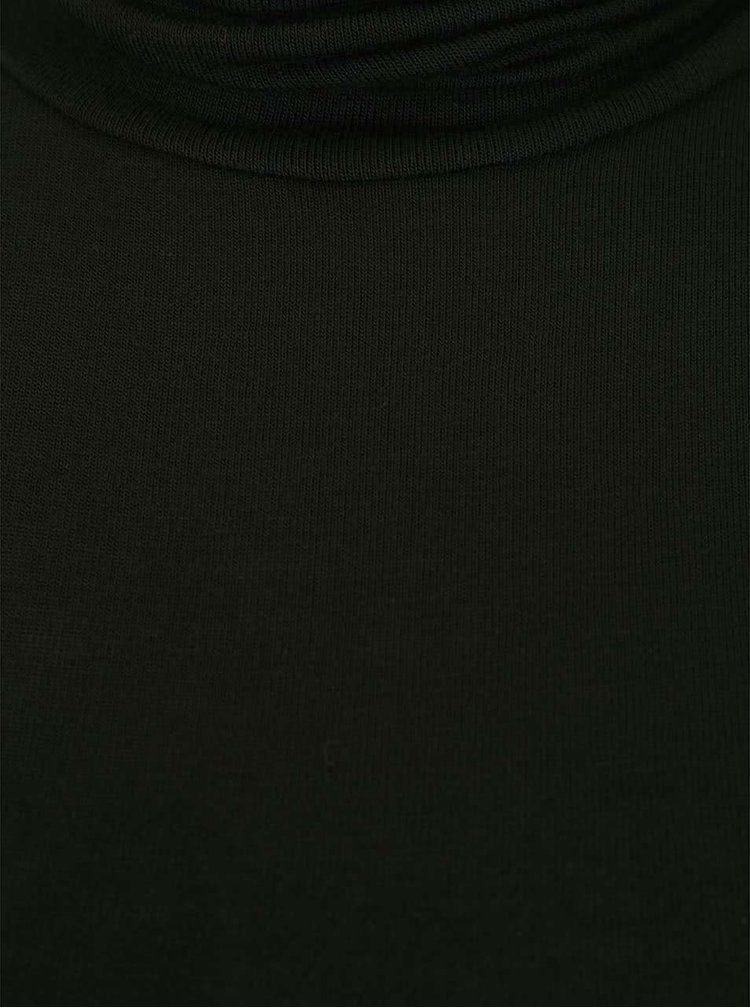 Top negru ONLY Pily cu guler înalt