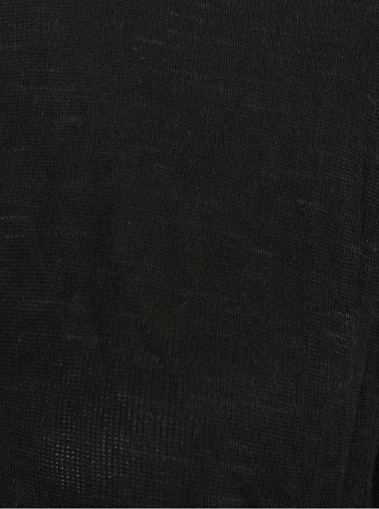 Černý asymetrický kadrigan ONLY Auckland