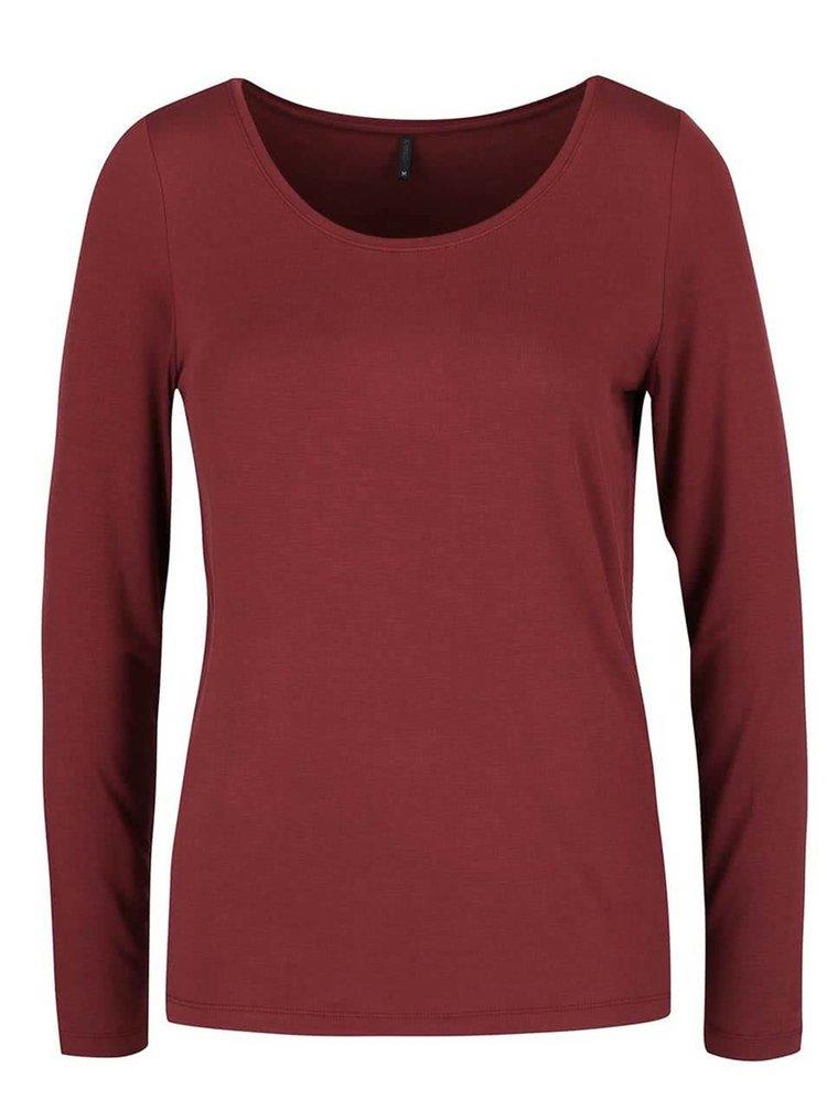 Vínové tričko s dlouhým rukávem ONLY Jewel