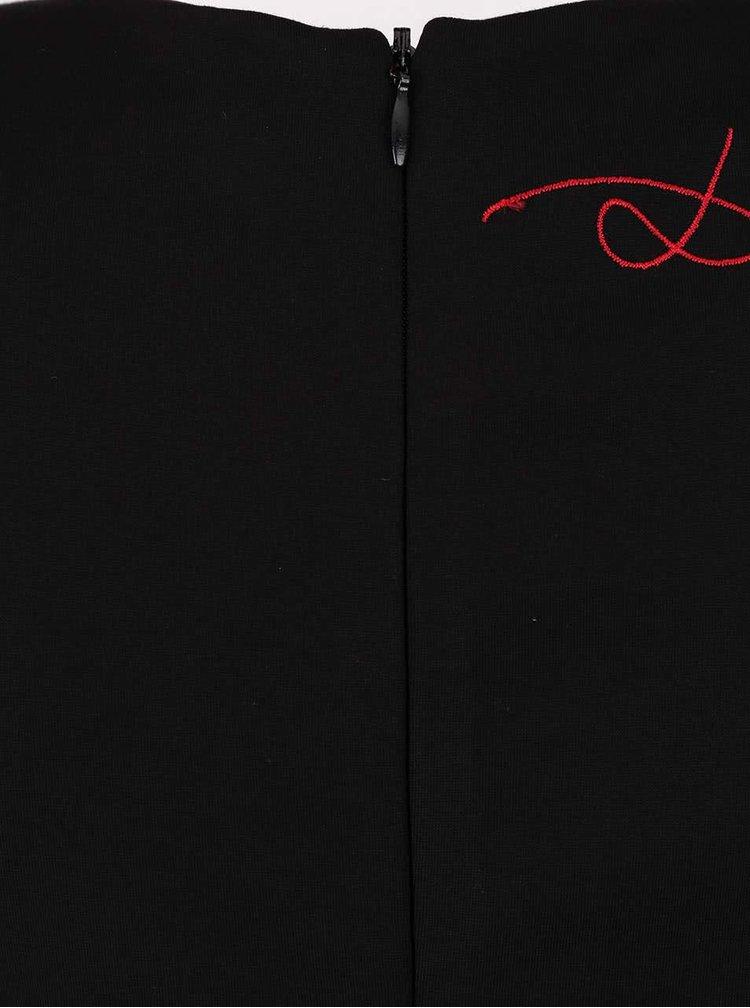 Čierne šaty s vyšívaným motívom Desigual Rosita