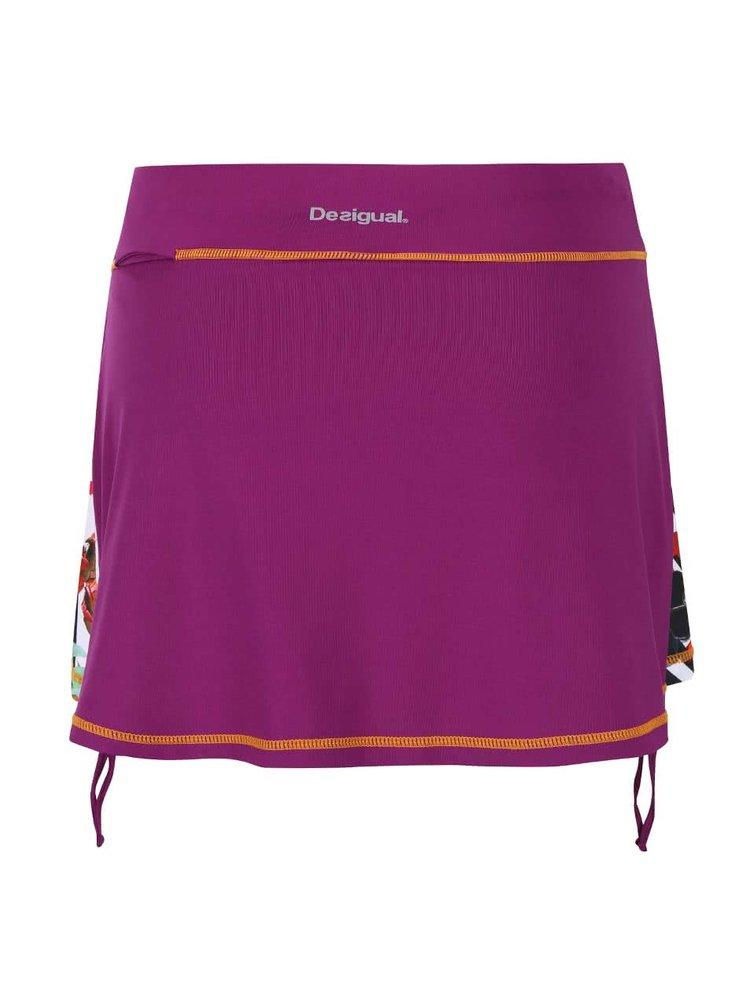 Fialová krátka sukňa Desigual Sport Fal