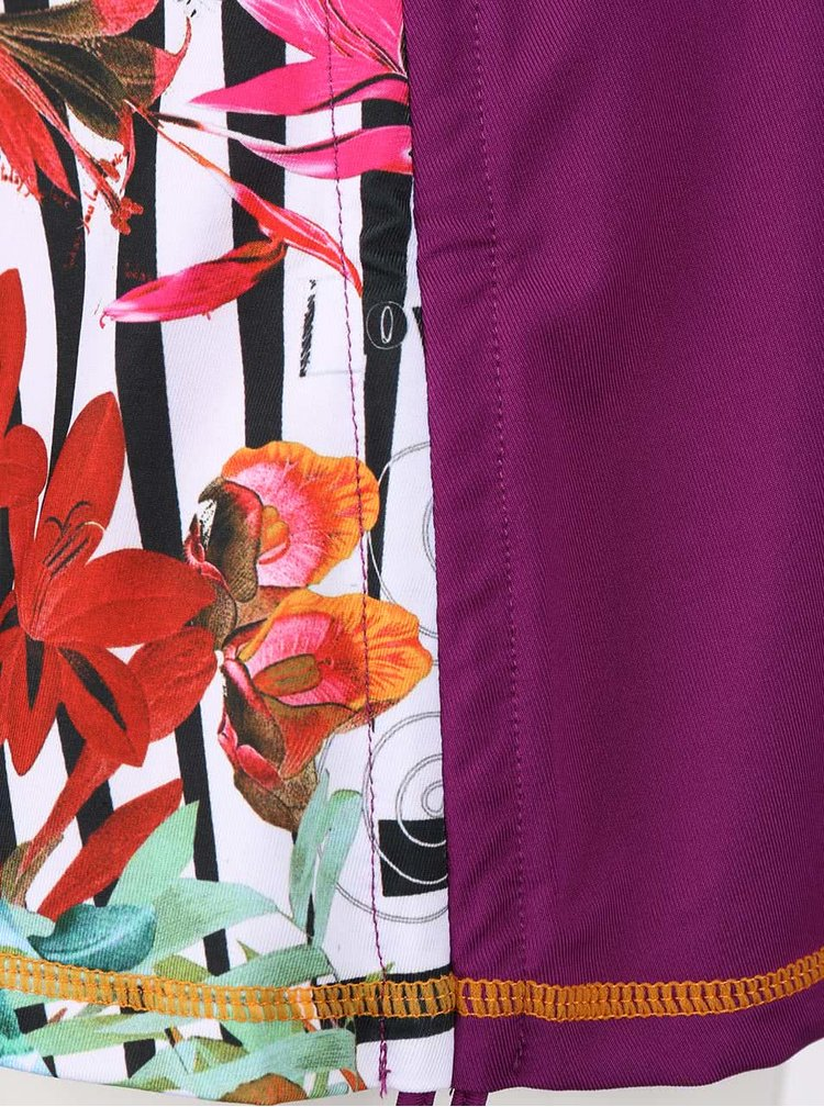 Fialová krátká sukně Desigual Sport Fal