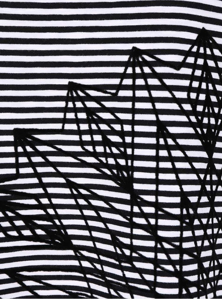 Bielo-čierne pruhované tričko Desigual Amapola