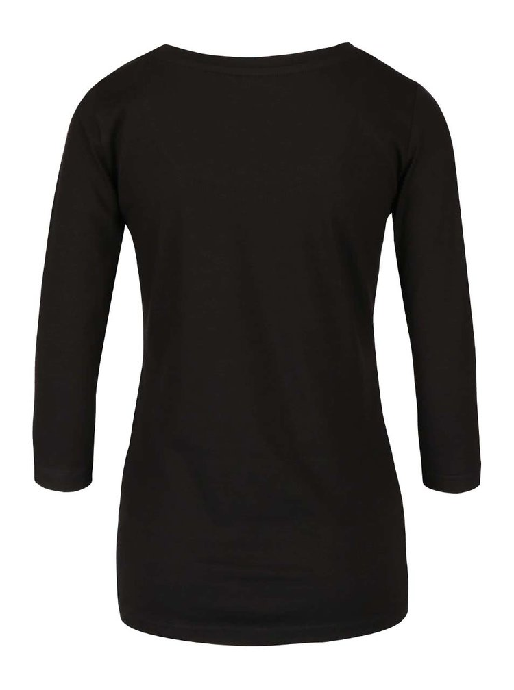 Černé tričko s 3/4 rukávy Desigual Natalie