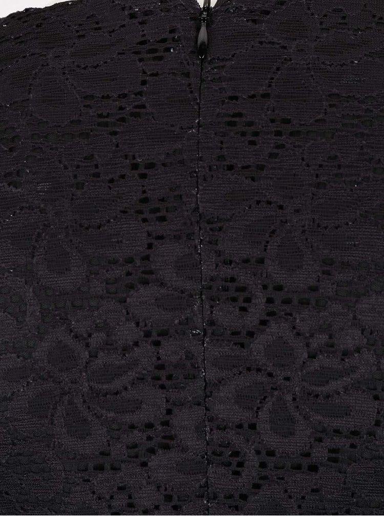 Rochie neagră Desigual Wendoline din dantelă