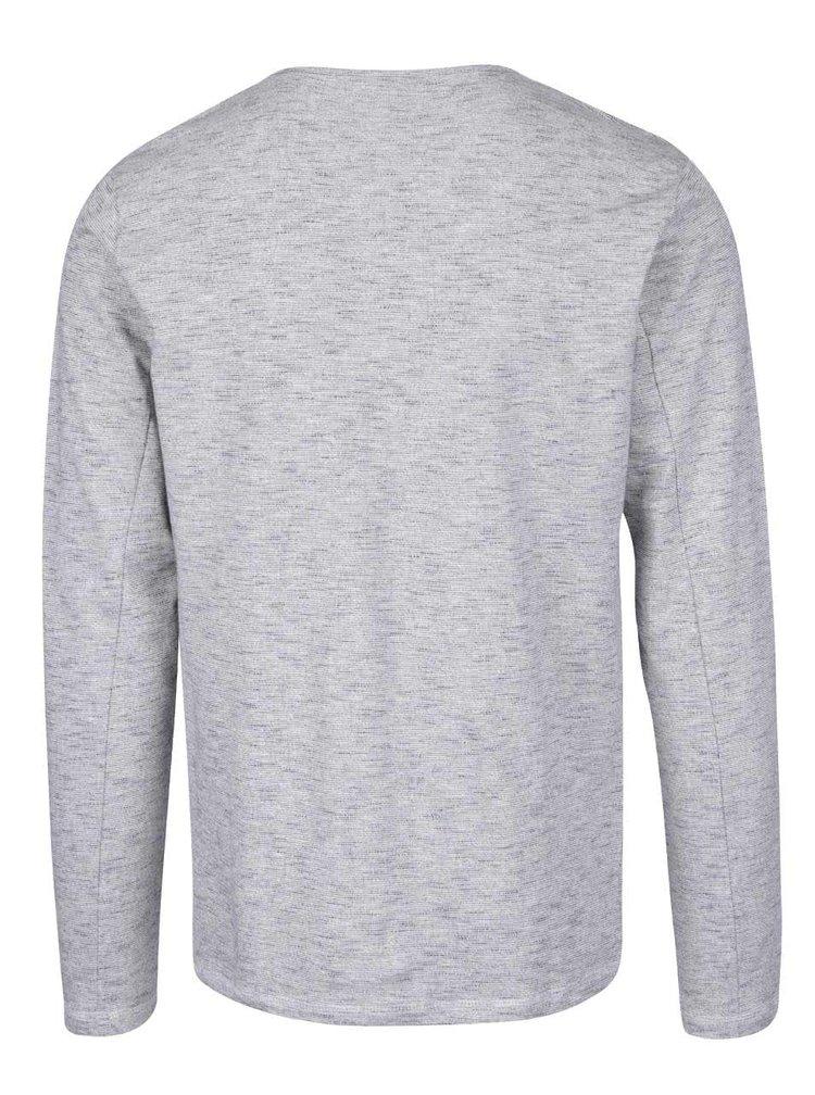 Modro-šedé žíhané triko s dlouhým rukávem ONLY & SONS Neal