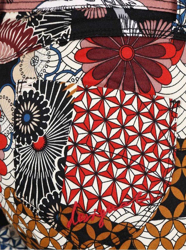 Pantaloni Desigual Suave cu model patchwork