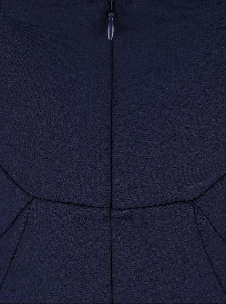 Tmavomodré maxišaty s flitrovaným topom Lipsy