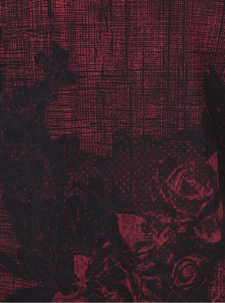 Cihlově červené triko s potiskem ONLY & SONS Skulls