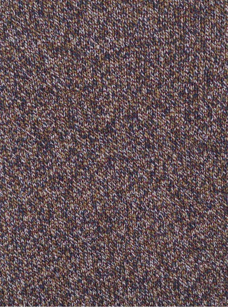 Hnedý melírovaný sveter Only&Sons Drako