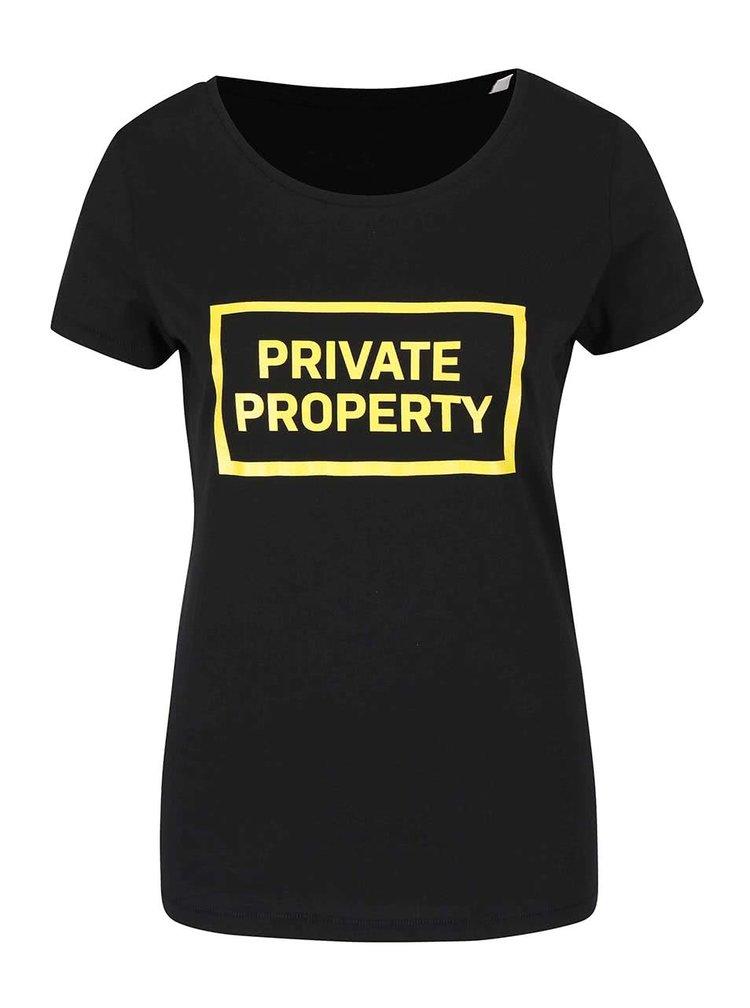 Černé dámské tričko ZOOT Originál Private Property