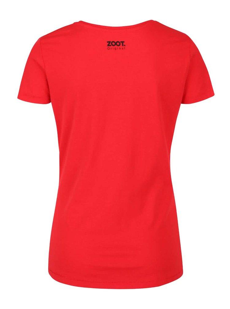 Tricou roșu din bumbac ZOOT Originál Little Girl Spray pentru femei