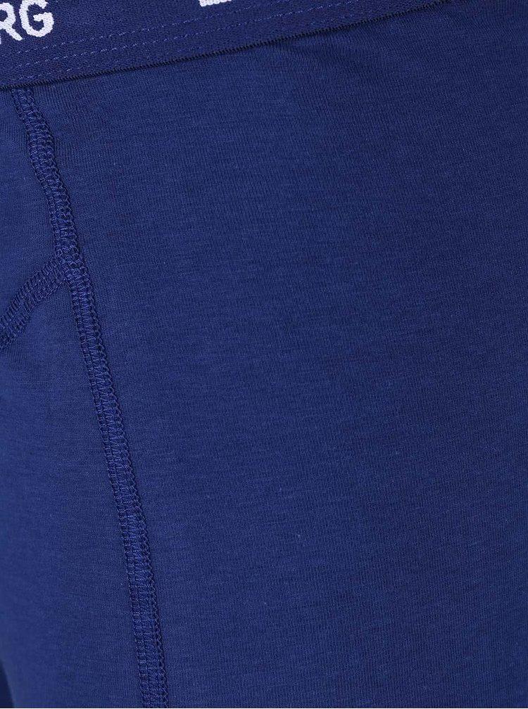 Súprava troch boxeriek v modrej farbe Björn Borg