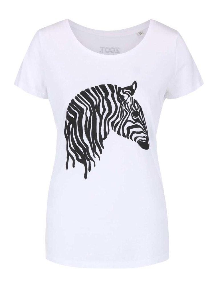 Bílé dámské tričko ZOOT Originál Zebra