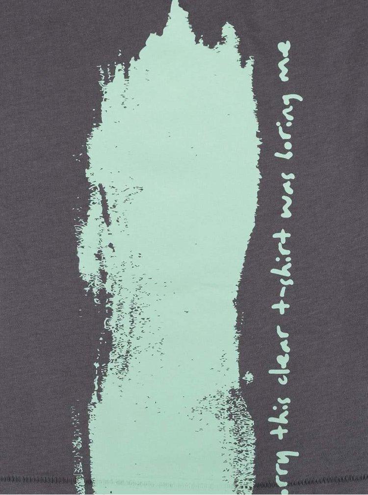 Šedé dámské volnější tričko ZOOT Originál Sorry This Clear T-shirt Was Boring Me