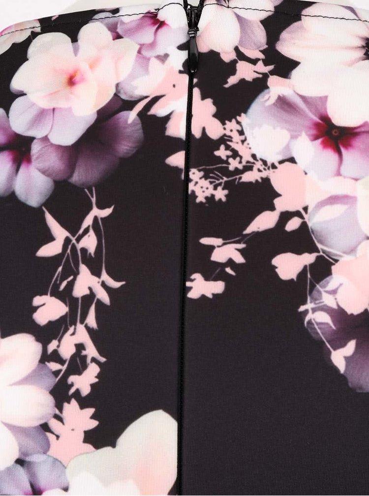 Čierne šaty s kvetinovým vzorom Lipsy