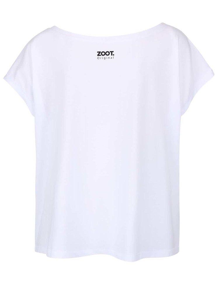 Bílé dámské volnější tričko ZOOT Originál Make Art Not War