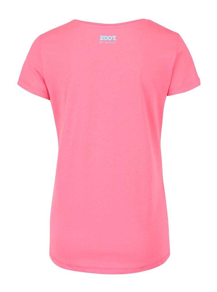 Růžové dámské tričko ZOOT Originál Dino