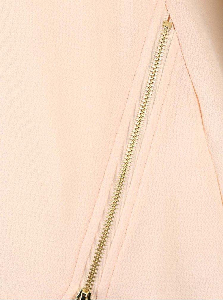 Svetloružová blúzka s ozdobným zipsom Dorothy Perkins