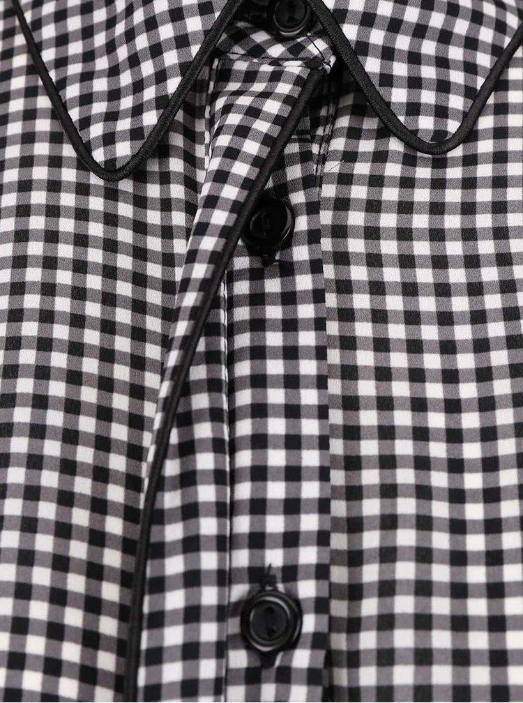 Bielo-čierne šaty s košeľovým topom Dorothy Perkins