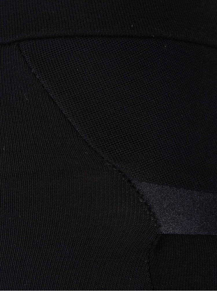 Colanți negri Quontum cu benzi elastice posterioare negre