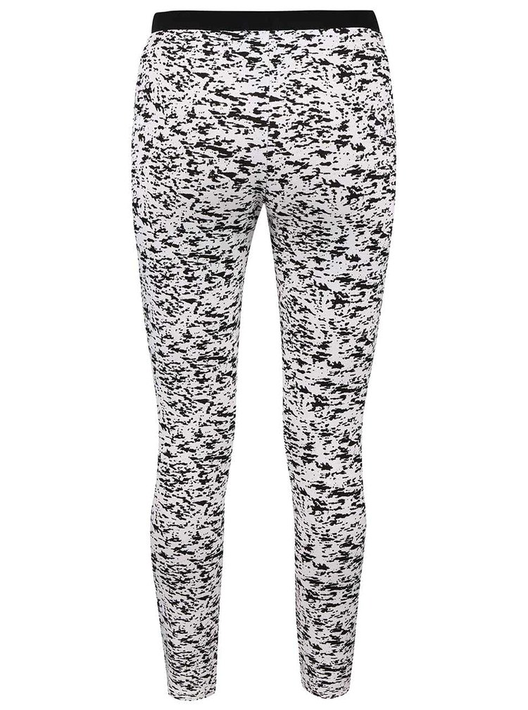 Pantaloni sport Haily's Jada crem cu negru